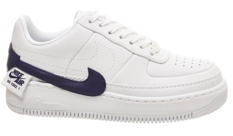 Nike Air Force 1 Jester Trainers White Regency Purple