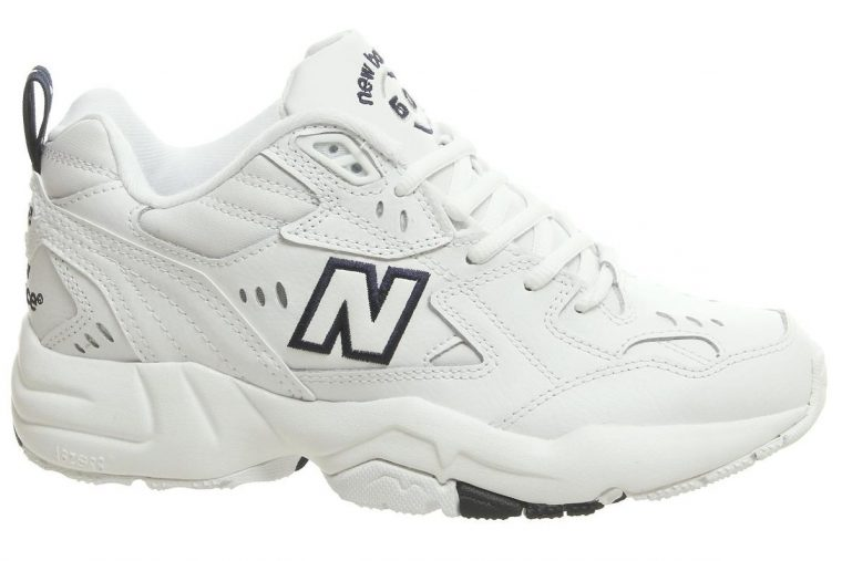 New Balance 608 Trainers White Navy