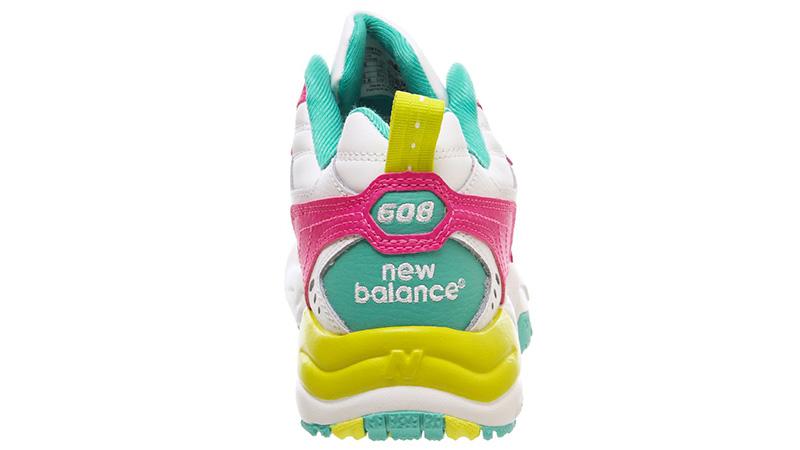 New Balance 608 White Fuschia back