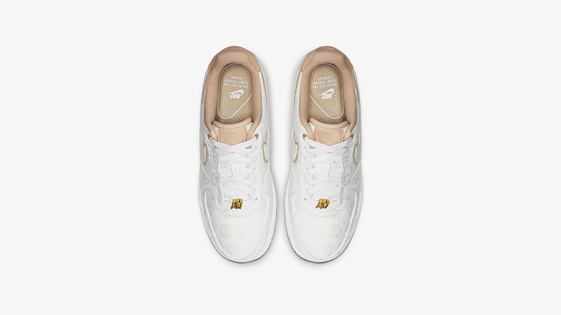 factory price good out x save off Nike Air Force 1 07 Lux White Gold | 898889-102