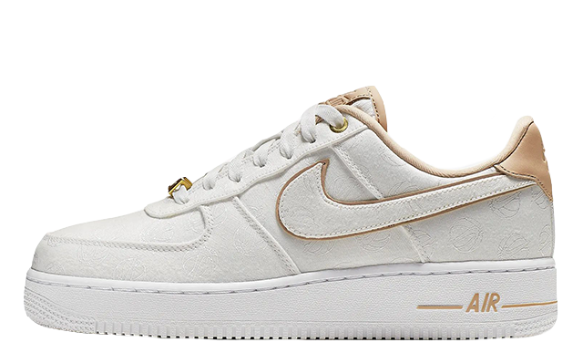 Nike Air Force 1 07 Lux White Gold | 898889-102 | The Sole Womens