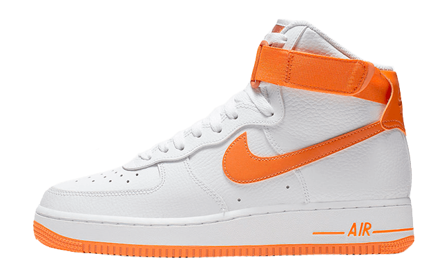 sports shoes f5205 4e4fb Nike Air Force 1 High White Orange   334031-109. Release  ...