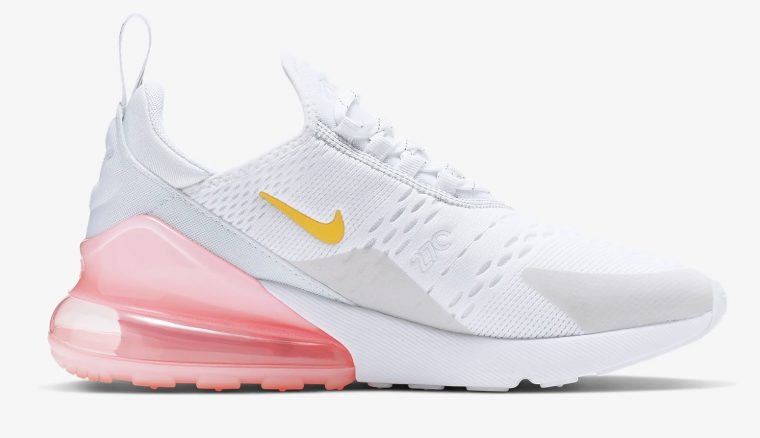 Nike Air Max 270 White Pink Ci9088 100 The Sole Womens