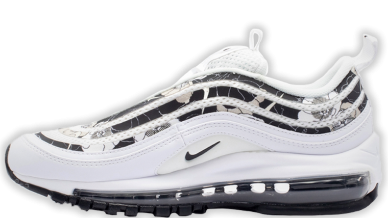 Nike Air Max 97 SE Floral Black White | BV0129 100