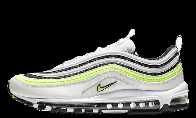 sports shoes b0776 8d3c3 Nike Air Max 97 White Black Volt | AQ4126-101