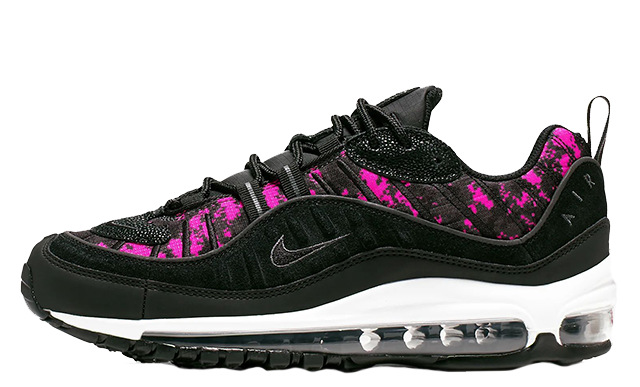 separation shoes 3a22e 66fa5 Nike Air Max 98 Premium Camo Black Hyper Pink | CI2672-001