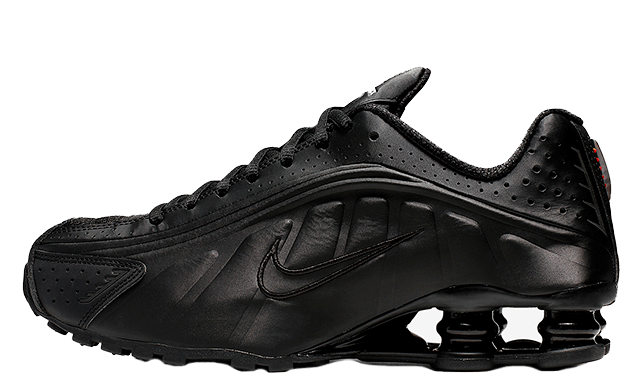 Nike Shox R4 Black Orange Womens AR3565-004