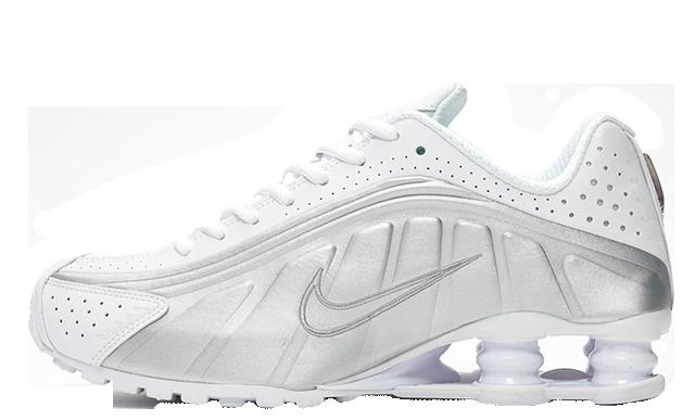 Nike Shox R4 Metallic White AR3565-101