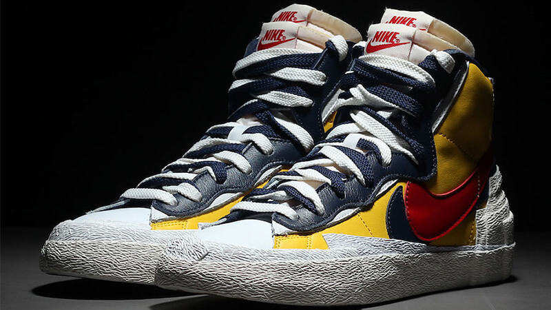 promo code 88aa6 63417 Sacai x Nike Blazer Mid Yellow Blue   BV0072-700
