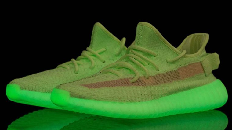 new products 7ff70 b4e5a Yeezy Boost 350 V2 Glow In The Dark Green 2