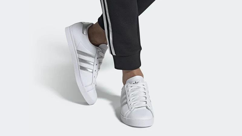adidas Coast Star White Silver | EE6521