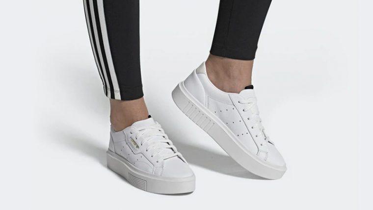 adidas Sleek Super White EF8858 on footj thumbnail image