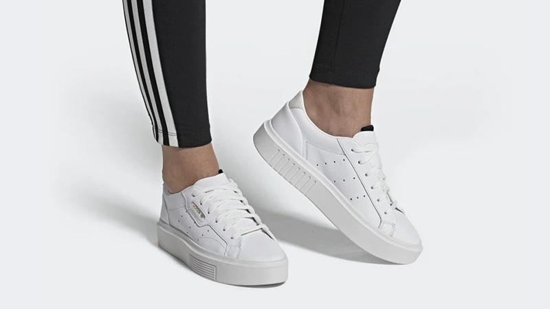 adidas Sleek Super White EF8858 on footj