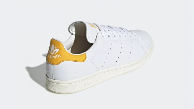 hot sale online 87149 5533b adidas Stan Smith White Orange EF9320 01