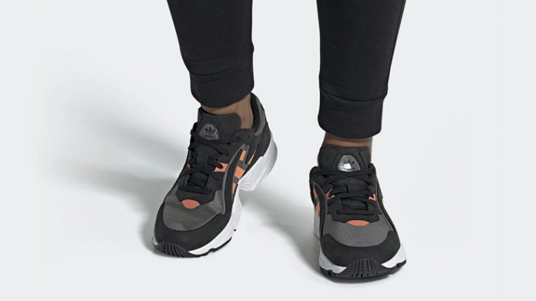 adidas Yung 96 Chasm Black EE7227 on foot thumbnail image