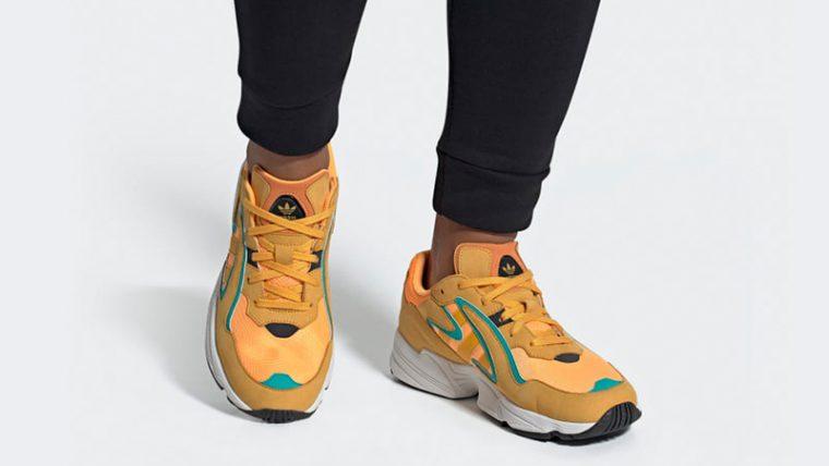 adidas Yung 96 Chasm Orange EE7228 on foot thumbnail image