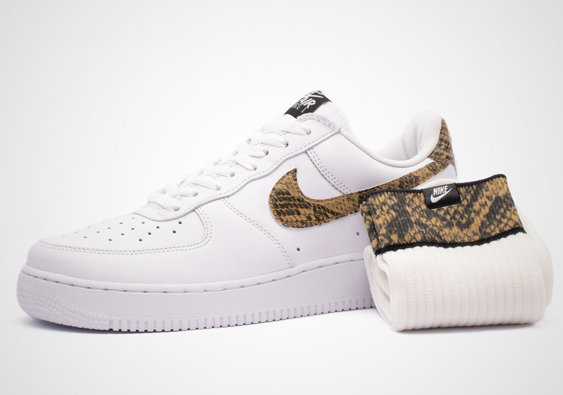 Ivory Snake' Print Reworks The Nike Air Force 1 Kommende  Upcoming
