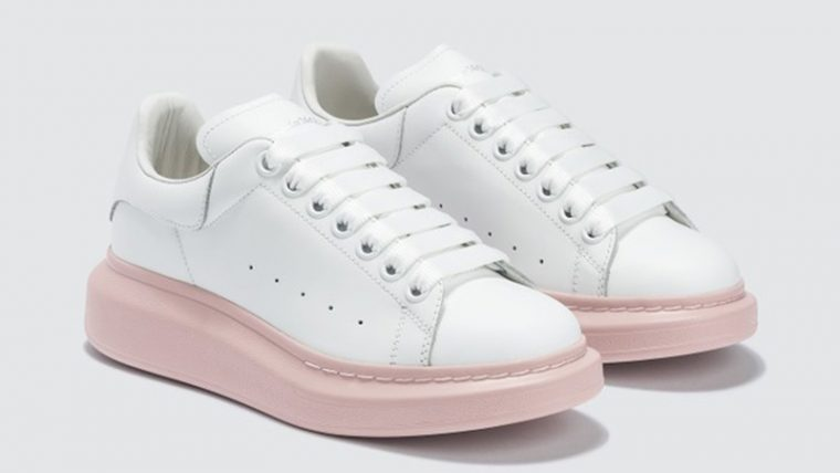 Alexander McQueen Raised Sole Low Top White front thumbnail image