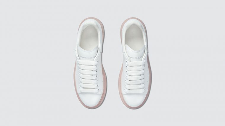Alexander McQueen Raised Sole Low Top White middle thumbnail image