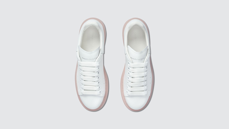 Alexander McQueen Raised Sole Low Top White middle