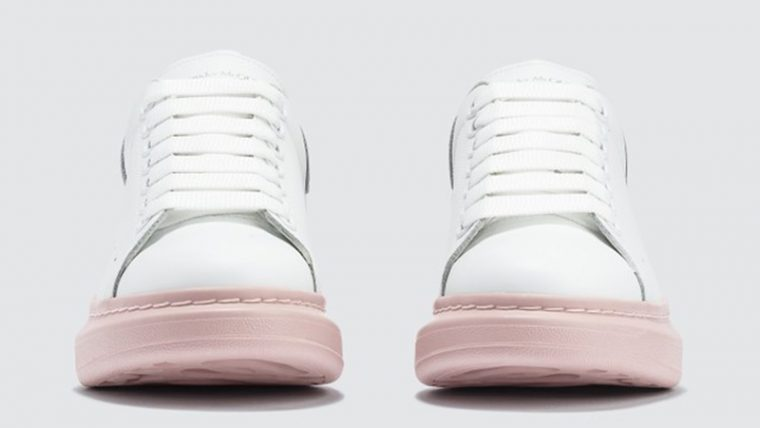 Alexander McQueen Raised Sole Low Top White side thumbnail image