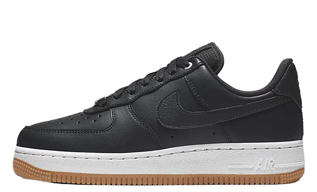 Nike Air Force 1 07 Low Premium Black Gum 896185-008