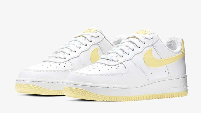 Nike Air Force 1 07 Patent White Yellow | AH0287 106