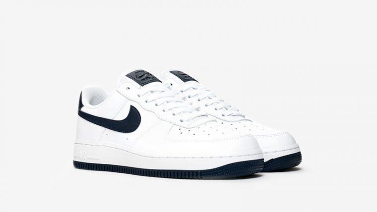 Nike Air Force 1 07 White Navy AH0287-108 front thumbnail image