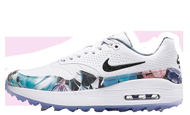 new product 655f1 8b35f Nike Air Max 1 Golf Floral White Womens   BV0658-100