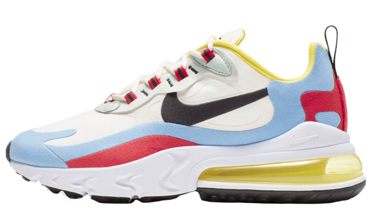 online store 2636f 9609c Nike Air Max 270 React Blue Yellow