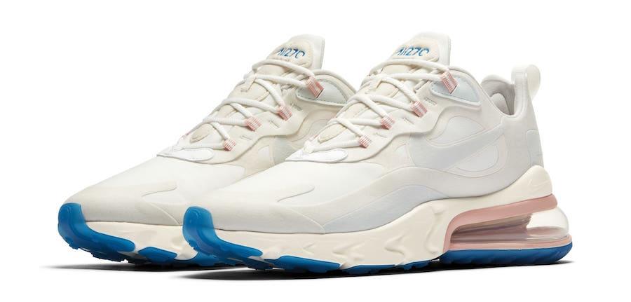 hot sales 1aea9 b45c4 Nike Air Max 270 React White Pink