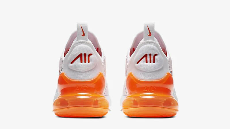 Nike Air Max 270 White Orange CJ4580-102 back