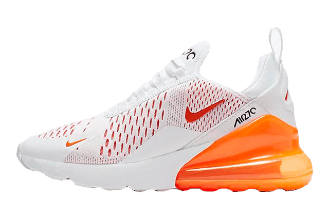 Nike Air Max 270 White Orange CJ4580-102 thumbnail image