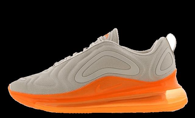 nike air max 720 orange and white