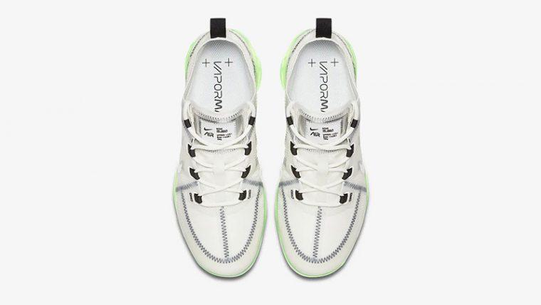 Nike Air VaporMax 2019 White Volt AR6632-104 middle thumbnail image