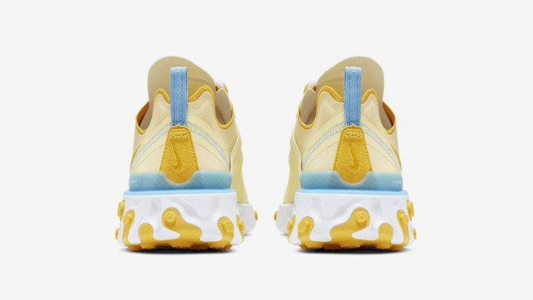 Nike React Element 55 Yellow Blue back