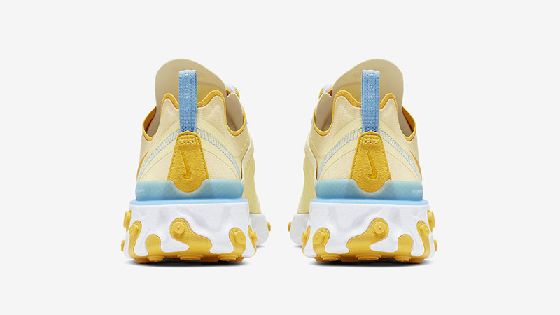 Nike React Element 55 Yellow Blue back