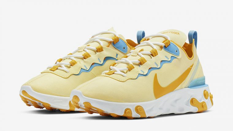 Nike React Element 55 Yellow Blue front thumbnail image