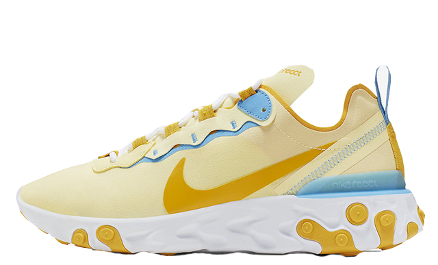 Nike React Element 55 Yellow Blue