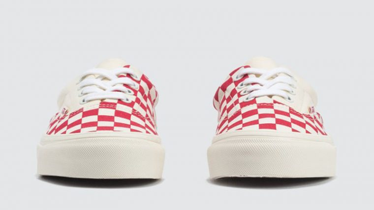 Vans Era Craft White Red Check front thumbnail image