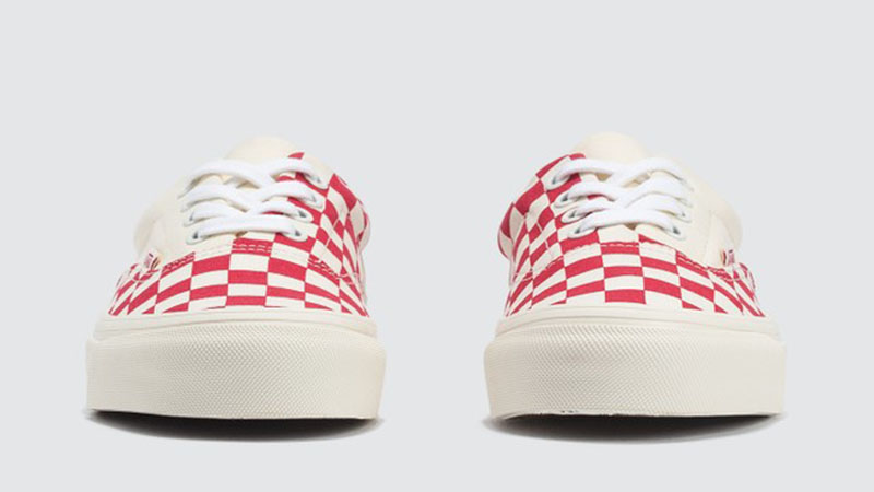 Vans Era Craft White Red Check front