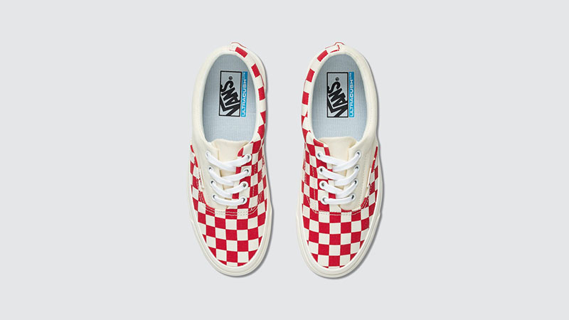 Vans Era Craft White Red Check middle