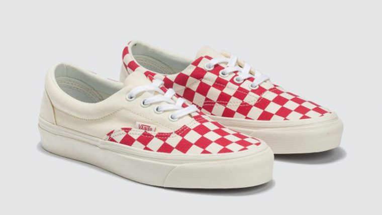 Vans Era Craft White Red Check side thumbnail image