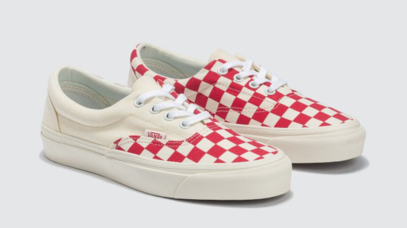 Vans Era Craft White Red Check side