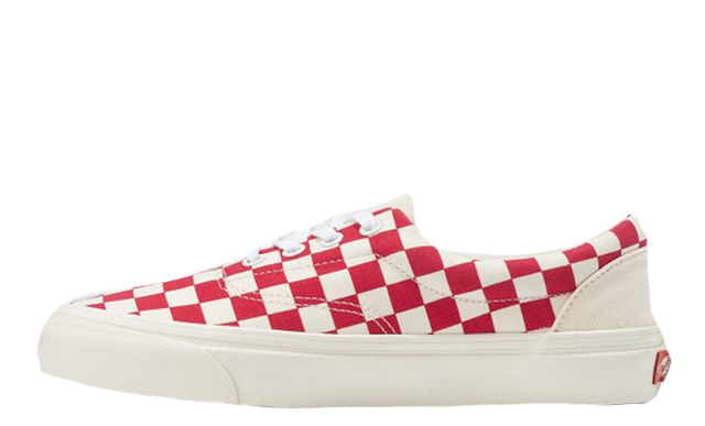 Vans Era Craft White Red Check