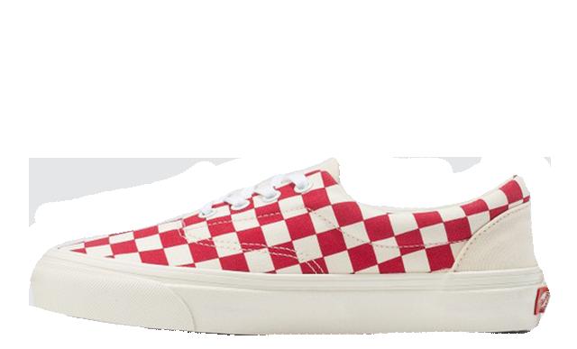 Vans Era Craft White Red Check