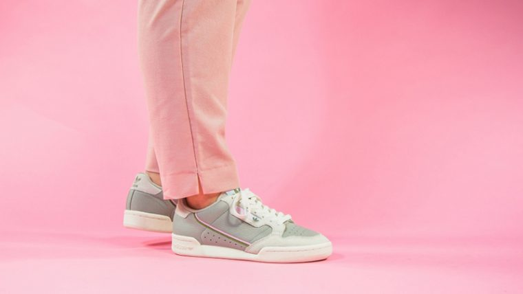adidas Continental 80 Beige Pink EE5558 on foot thumbnail image