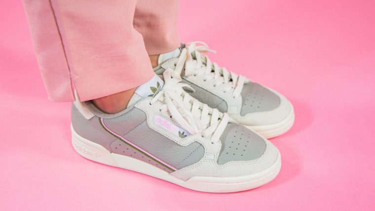 adidas Continental 80 Beige Pink EE5558 on foot front thumbnail image