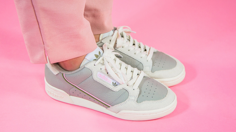 adidas Continental 80 Beige Pink EE5558 on foot front