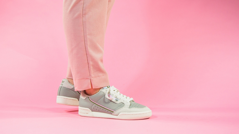 adidas Continental 80 Beige Pink EE5558 on foot
